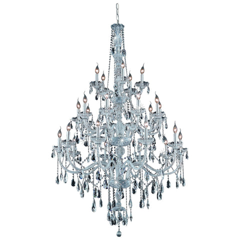 Verona 25-Light 43-Inch Chandelier with Crystal