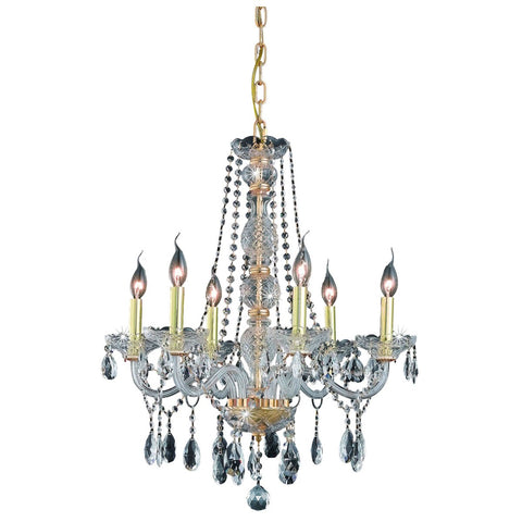 Verona 6-Light 24-Inch Chandelier with Crystal