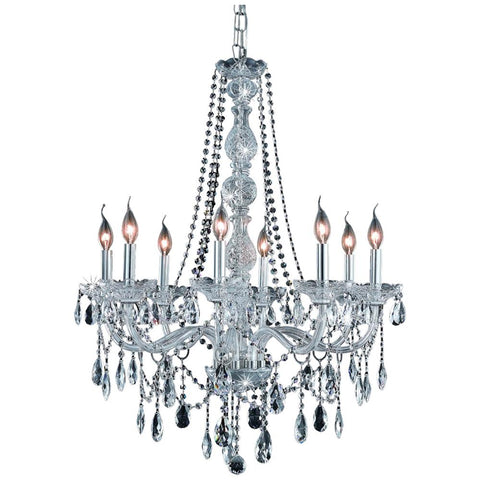 Verona 8-Light 28-Inch Chandelier with Crystal