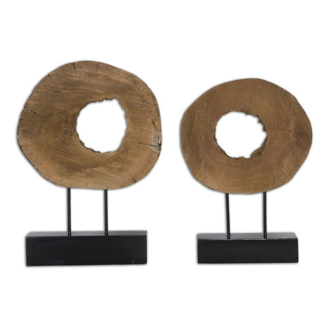 Ashlea Wooden Sculptures, Set of 2