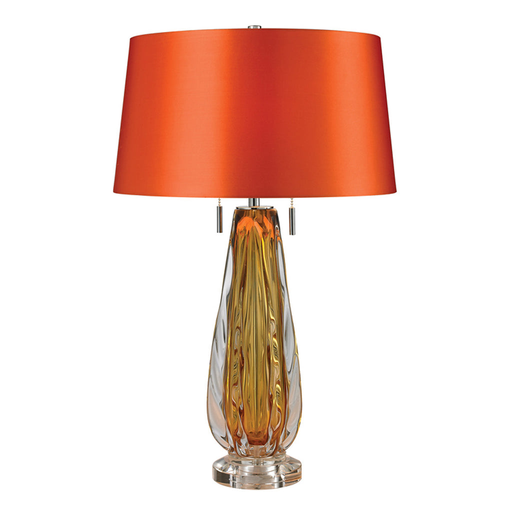 Amber 2-Light Table Lamp