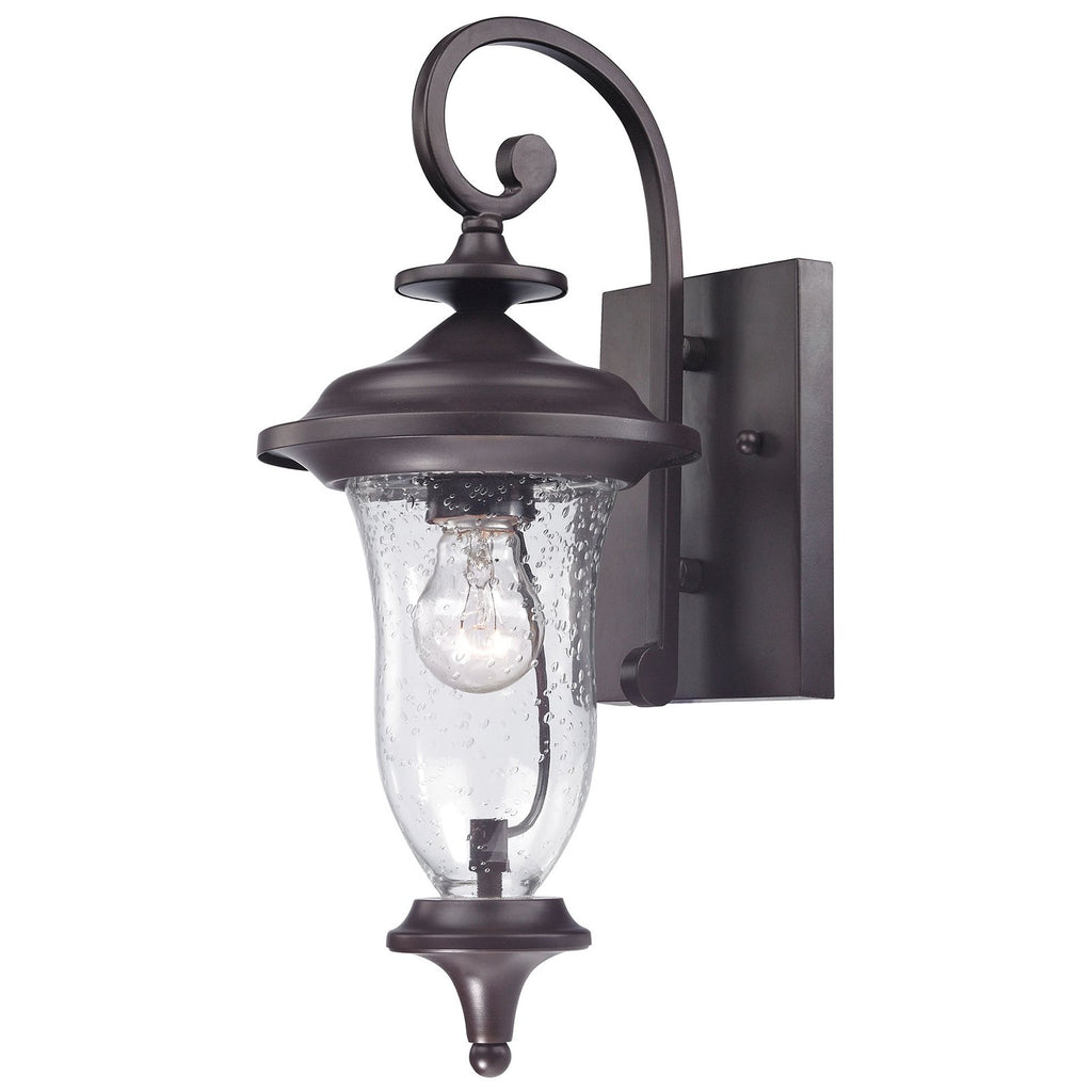 Trinity 1-Light Outdoor Wall Sconce in Oil Rubbed Bronze