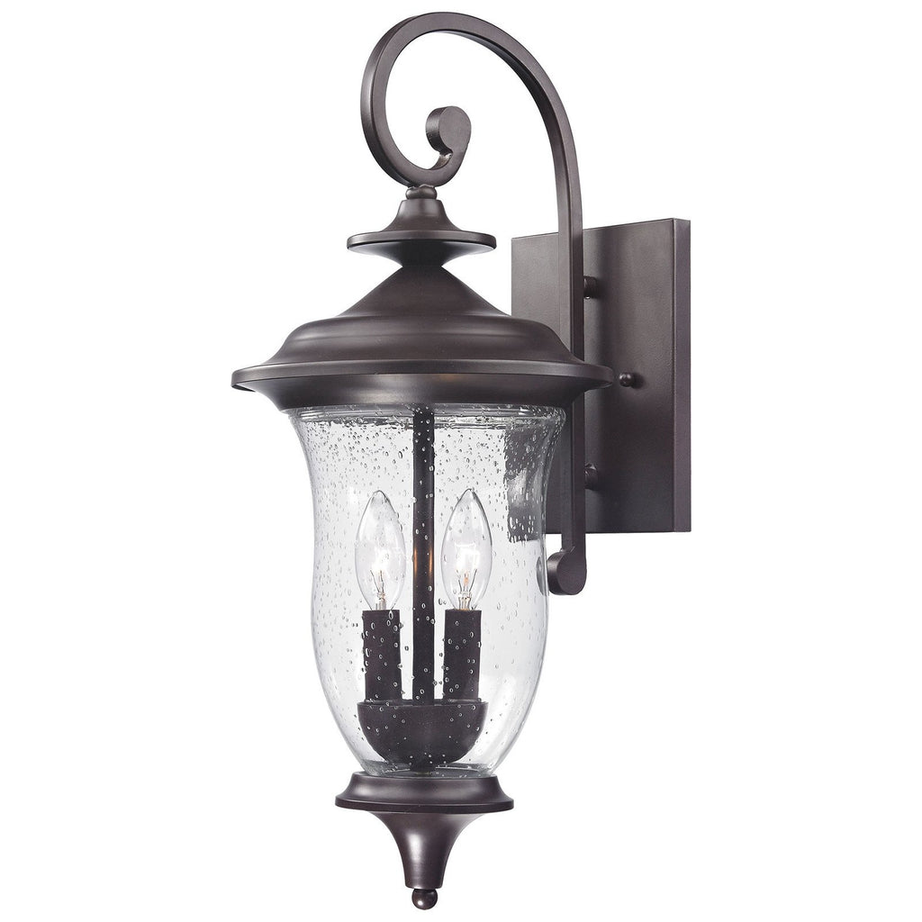 Trinity 2-Light Outdoor Wall Sconce in Oil Rubbed Bronze