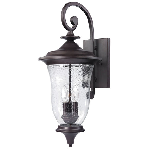 Trinity 3-Light Outdoor Wall Sconce in Oil Rubbed Bronze