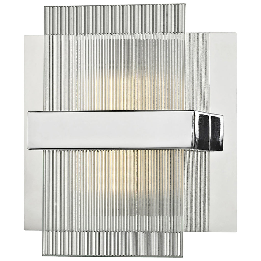 Desiree 6W x 3D x 6H 1-Light Vanity Sconce in Polished Chrome
