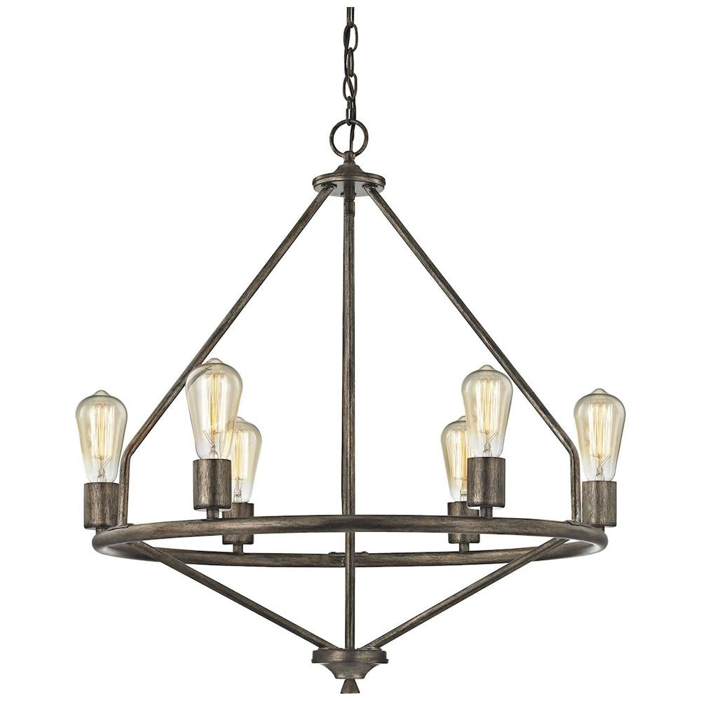 Galaway 6-Light Chandelier in Windswept Silver