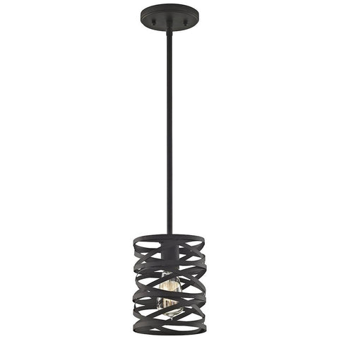 Vorticy 1-Light Pendant in Oil Rubbed Bronze