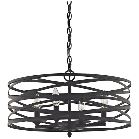 Vorticy 4-Light Chandelier in Oil Rubbed Bronze