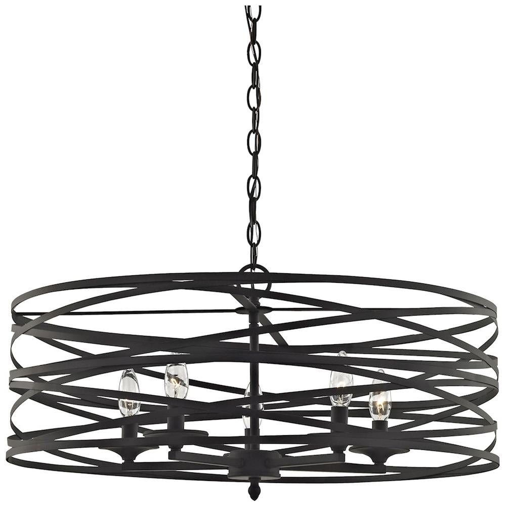 Vorticy 5-Light Chandelier in Oil Rubbed Bronze