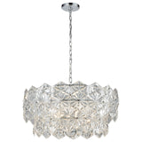 Lavique 5-Light Chandelier in Polished Chrome with Clear Crystal