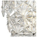 Lavique 3-Light Sconce in Polished Chrome with Clear Crystal