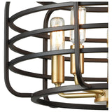 Capistrano 5-Light Chandelier in Oil Rubbed Bronze and Satin Brass