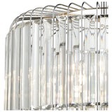 Beaumont 4-Light Chandelier in Polished Chrome with Clear Crystal