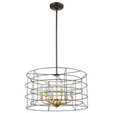 Dayton 6-Light Chandelier in Oil Rubbed Bronze and Satin Brass