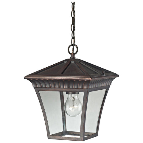 Ridgewood 1-Light Outdoor Pendant in Hazelnut Bronze