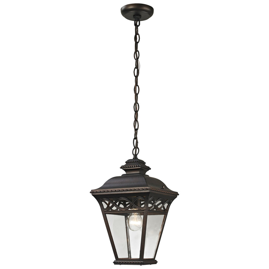 Mendham 1-Light Outdoor Pendant in Hazelnut Bronze