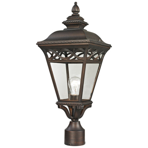 Mendham 1-Light Outdoor Post Lamp in Hazelnut Bronze