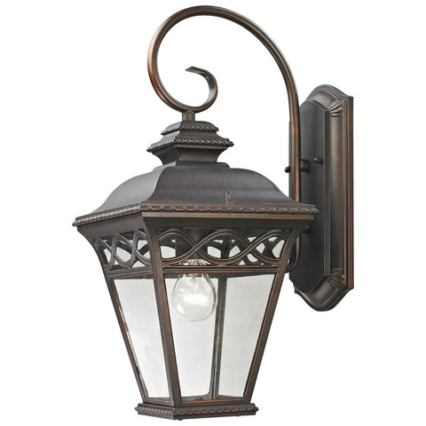 Mendham 1-Light Hazelnut Bronze Outdoor Wall Sconce
