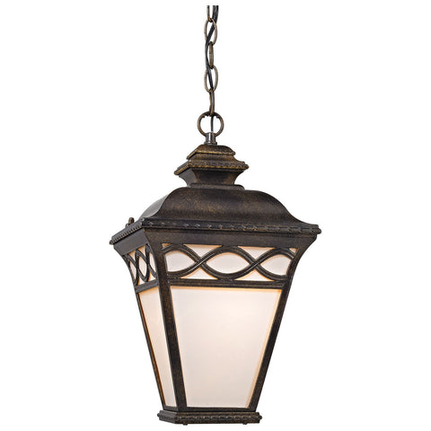 Mendham 1-Light Outdoor Pendant Lantern in Hazelnut Bronze
