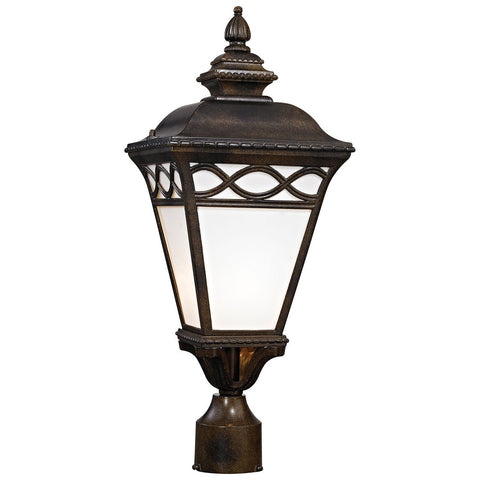 Mendham 1-Light Outdoor Post Lantern in Hazelnut Bronze