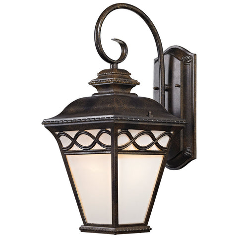 Mendham 1-Light Hazelnut Bronze Outdoor Coach Lantern