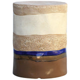 Mangan Stool in Oatmeal, Canon Browns, and Navy