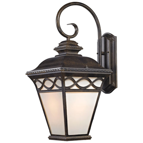 Mendham 1-Light Outdoor Coach Lantern in Hazelnut Bronze