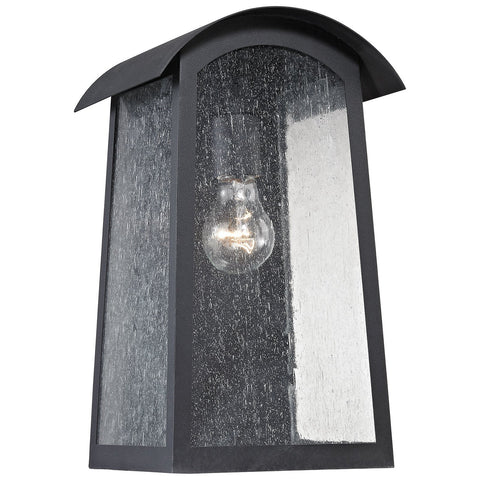 Prince Street 1-Light Matte and Black Outdoor Wall Sconce