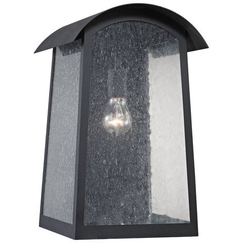 Prince Street 1-Light Outdoor Wall Sconce in Matte and Black
