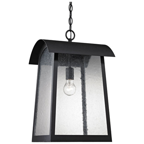 Prince Street 1-Light Outdoor Pendant in Matte and Black