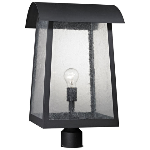 Prince Street 1-Light Outdoor Post Lamp in Matte and Black