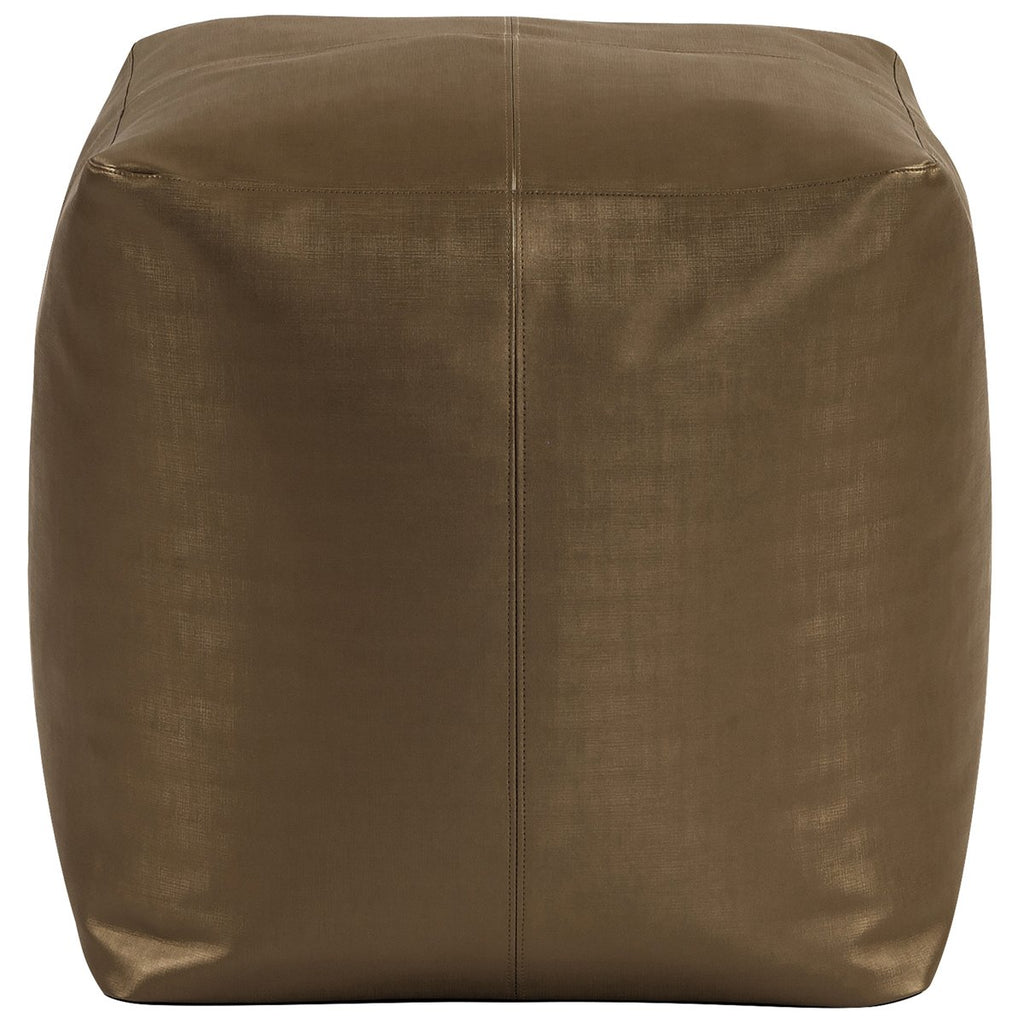 Square Pouf Luxe in Bronze