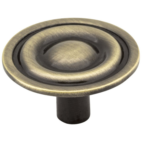 "Elements 1-5/16"" Diameter Cabinet Knob in Brushed Antique Brass"
