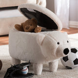 Baxton Studio Bjorn Contemporary Wool Upholstered Bear Storage Ottoman