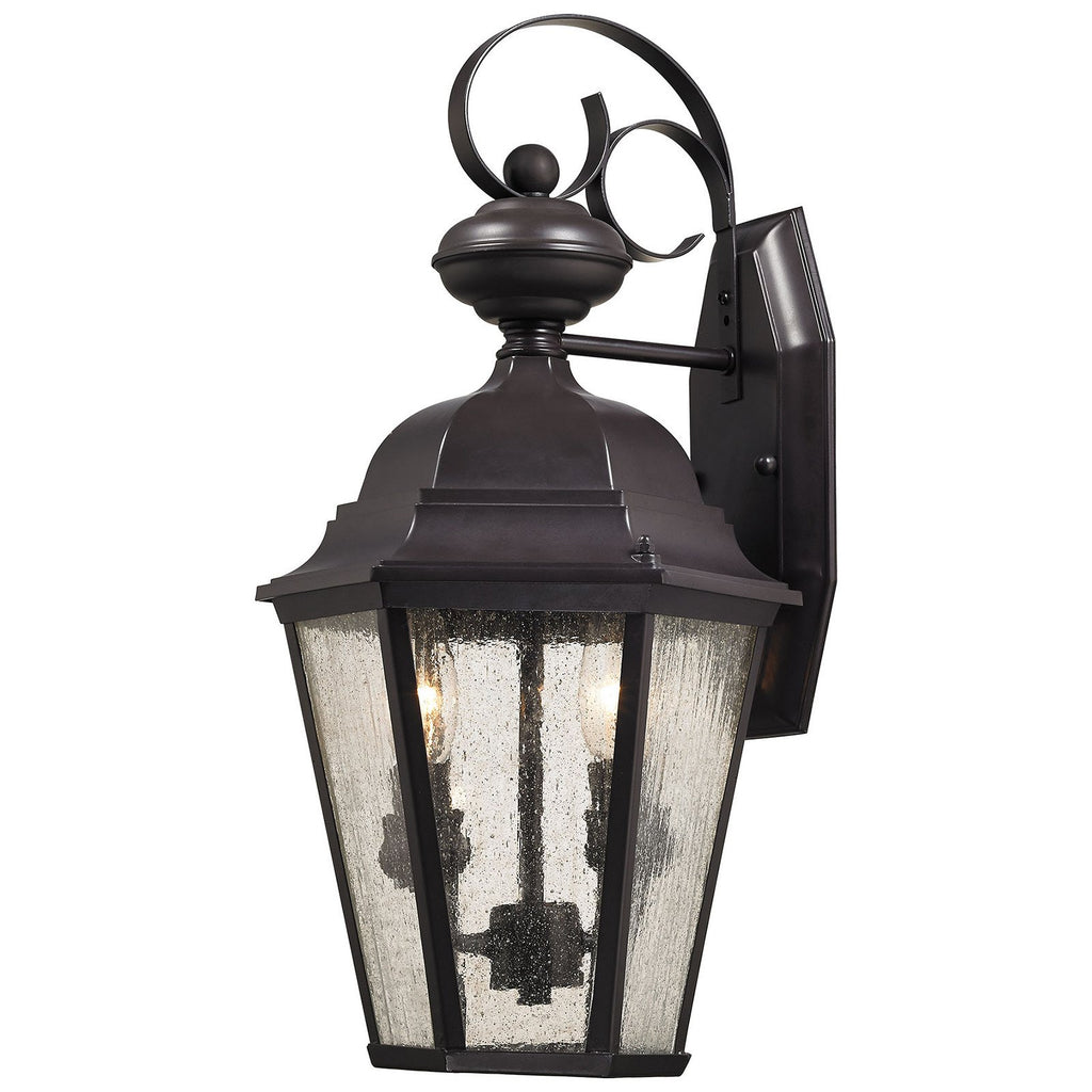 Cotswold 2-Light Outdoor Wall Sconce in Oil Rubbed Bronze