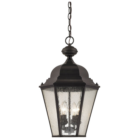 Cotswold 4-Light Outdoor Pendant in Oil Rubbed Bronze