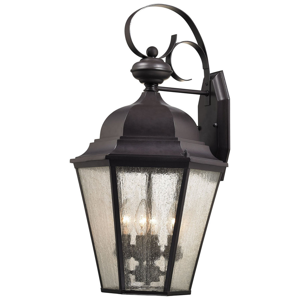 Cotswold 4-Light Outdoor Wall Sconce in Oil Rubbed Bronze