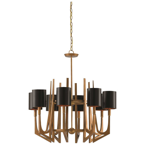 Umberto Chandelier in Brass