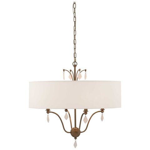 Vertue Chandelier in Antique Brass