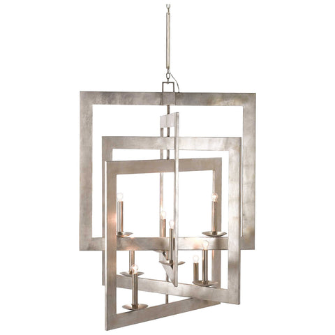 Middleton Grand Chandelier in Contemporary Silver Leaf