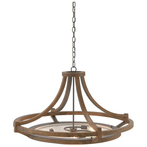 Highwood Chandelier in Hiroshi Gray and Chestnut and Frosted