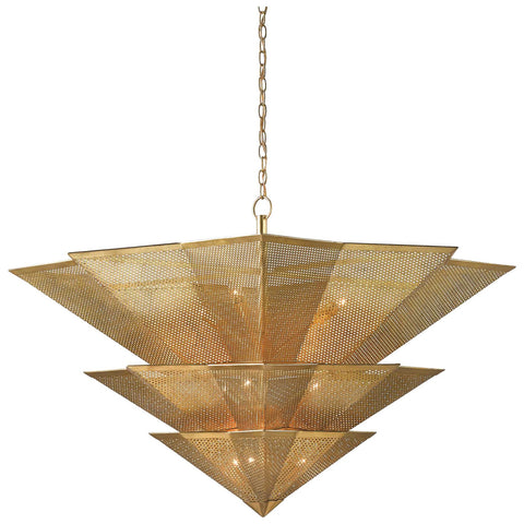 Hanway Chandelier in Antique Gold Leaf