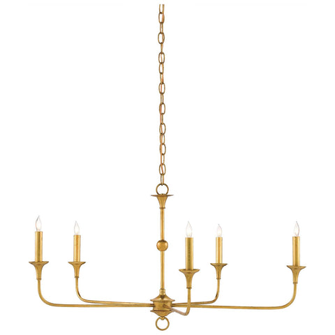 Nottaway Chandelier, Small in Contemporary Gold Leaf