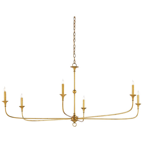 Nottaway Chandelier in Contemporary Gold Leaf
