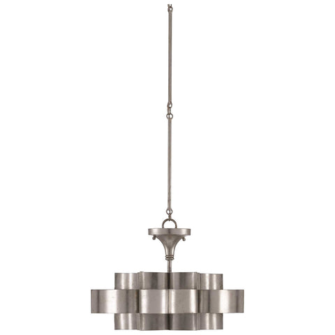 Grand Lotus Pendant/Semi-Flush in Contemporary Silver Leaf