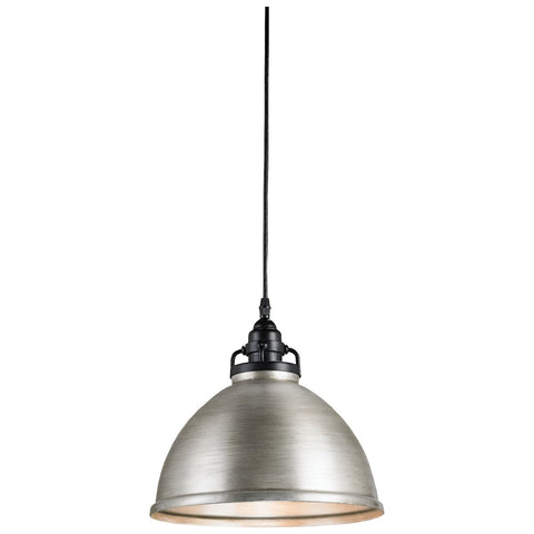 Ruhl Pendant in Satin Black and Antique Brushed Nickel