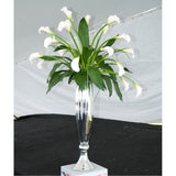 Fluted Hand-Blown Silver Glass Vase