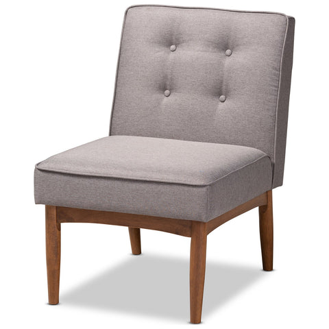 Baxton Studio Arvid Gray Fabric Upholstered Wood Dining Chair