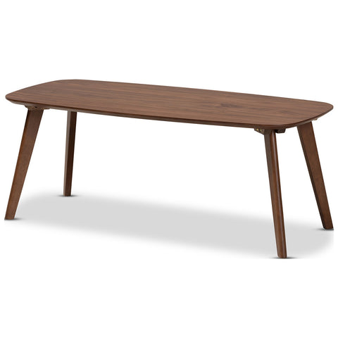 Baxton Studio Dahlia Walnut Finished Coffee Table