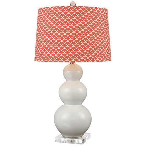 Ava Table Lamp, Coral